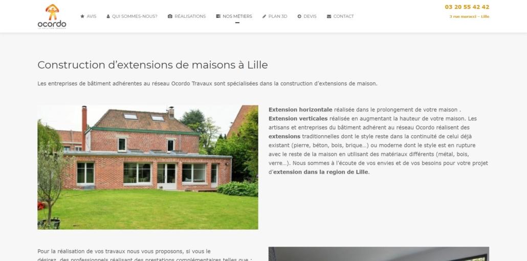 Réalisations d'extensions à Lille