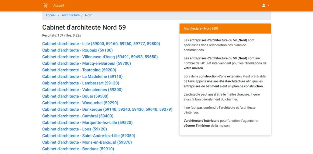 Ocordo Liste des architectes dans le Nord